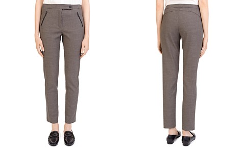 Gerard Darel Gloriana Zip-Pocket Check Pants - Bloomingdale's_2
