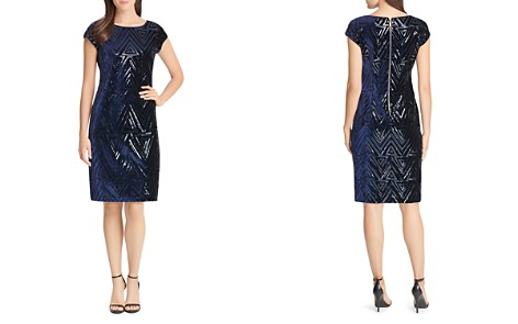 Eliza J Sequined Velvet Shift Dress - Bloomingdale's_2