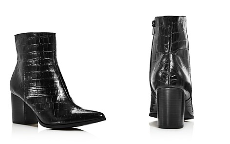 JAGGAR Women's Grounded Croc-Embossed Leather Booties - Bloomingdale's_2