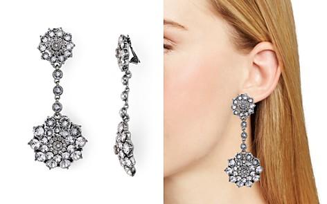 Oscar de la Renta Pave Encrusted Flower Clip-On Earrings - Bloomingdale's_2