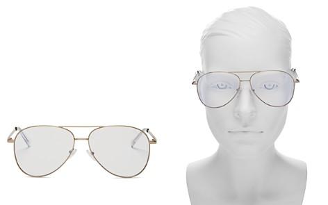 Quay Women's Still Standing Blue Light Aviator Glasses, 51.5mm - Bloomingdale's_2