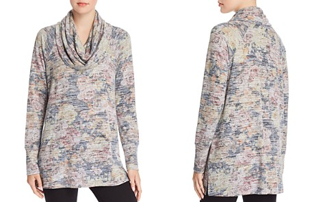 Cupio Cowl Neck Space-Dye Floral Tunic - Bloomingdale's_2