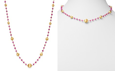 """Marco Bicego 18K Yellow Gold Africa Precious Ruby Beaded Station Necklace, 18"""" - Bloomingdale's_2"""