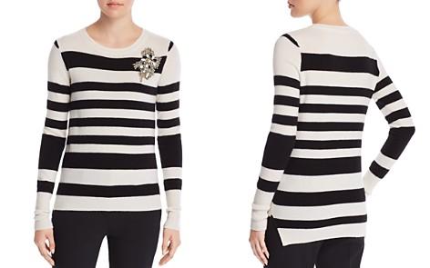 Badgley Mischka Embellished Stripe Sweater - Bloomingdale's_2