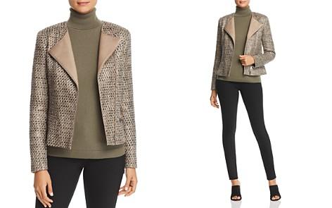 Lafayette 148 New York Trista Suede-Trimmed Metallic Tweed Jacket - Bloomingdale's_2