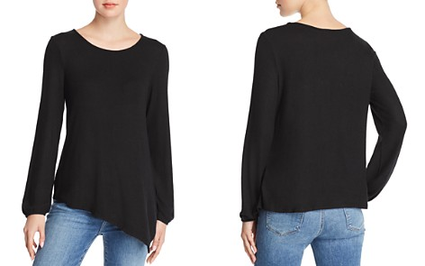 B Collection by Bobeau Cozy Asymmetric Brushed Knit Top - 100% Exclusive - Bloomingdale's_2
