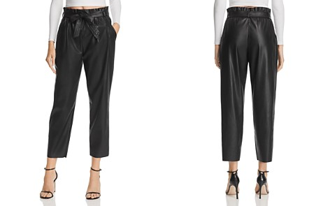 AQUA LUXE Capsule Faux Leather Paperbag-Waist Pants - 100% Exclusive - Bloomingdale's_2