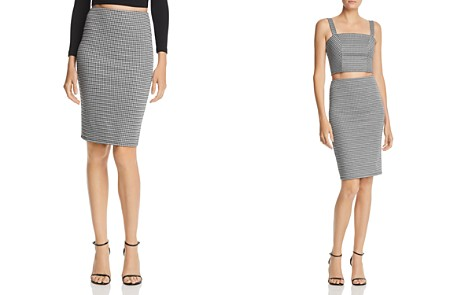 AQUA Houndstooth Pencil Skirt - 100% Exclusive - Bloomingdale's_2