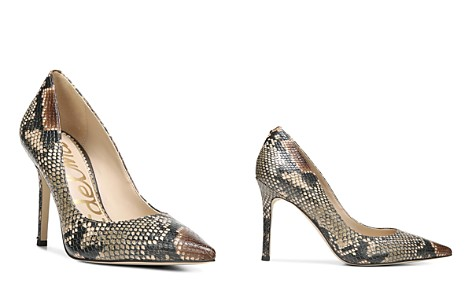 Sam Edelman Women's Hazel Snake-Embossed Leather High-Heel Pumps - Bloomingdale's_2