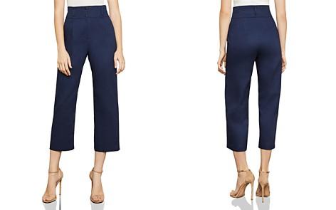 BCBGMAXAZRIA Wide Leg Crop Pants - Bloomingdale's_2