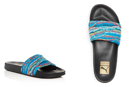 PUMA x Coogi Men's Leadcat Knit Slide Sandals - Bloomingdale's_2