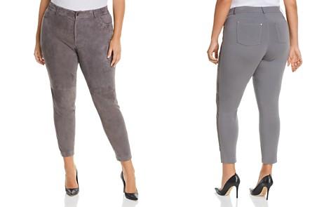 Lafayette 148 New York Plus Mercer Suede-Front Skinny Pants - Bloomingdale's_2