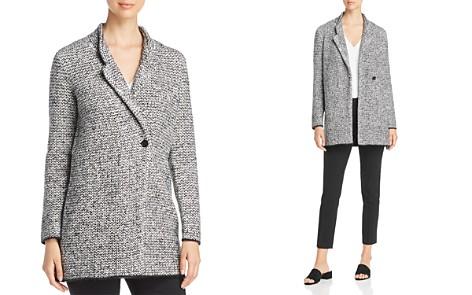 Eileen Fisher Textured Notch Collar Coat - Bloomingdale's_2