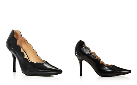 Chloé Women's Lauren Scalloped Leather High-Heel Pumps - Bloomingdale's_2