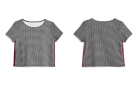 AQUA Girls' Houndstooth Athletic-Stripe Top, Big Kid - 100% Exclusive - Bloomingdale's_2