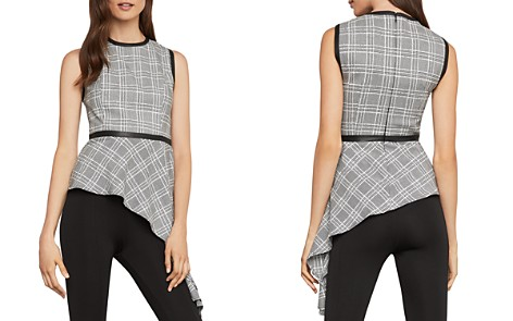 BCBGMAXAZRIA Plaid Asymmetric Top - Bloomingdale's_2