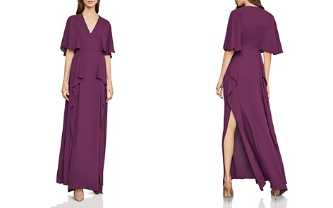 BCBGMAXAZRIA Georgette Flutter Gown - Bloomingdale's_2
