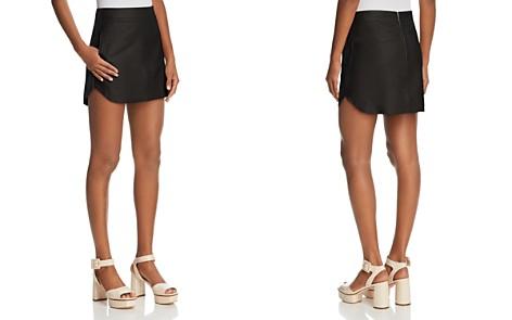 Karina Grimaldi Simon High/Low Leather Mini Skirt - Bloomingdale's_2