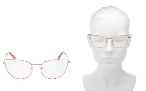 The Book Club Women's Discount Off Jaunty Pisco Cat Eye Blue Screen Filter Glasses, 53mm - Bloomingdale's_2