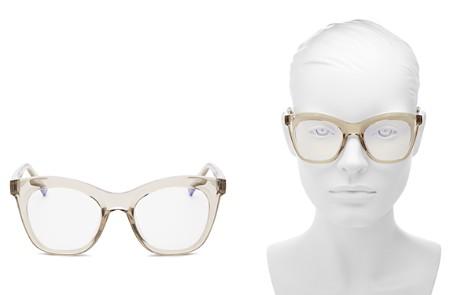 The Book Club Women's Harlot's Bed Cat Eye Blue Screen Filter Glasses, 54mm - Bloomingdale's_2