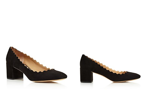 Chloé Women's Lauren Round Toe Suede Pumps - Bloomingdale's_2