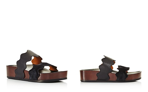 Chloé Women's Lauren Leather Slide Sandals - Bloomingdale's_2