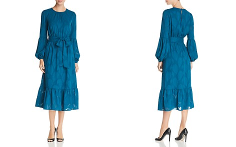 MICHAEL Michael Kors Textured Print Midi Dress - Bloomingdale's_2