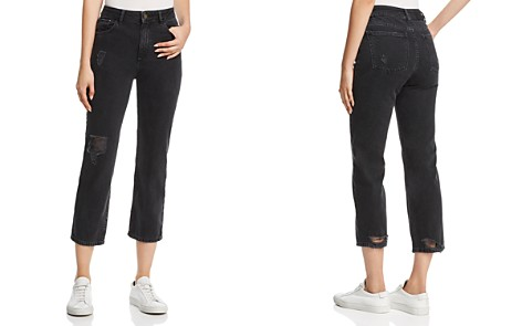 DL1961 Jerry Vintage High Rise Straight Jeans in Stone - Bloomingdale's_2