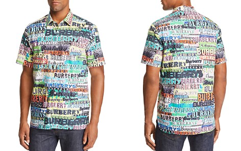 Burberry Edwards Logo-Print Short-Sleeve Regular Fit Shirt - Bloomingdale's_2