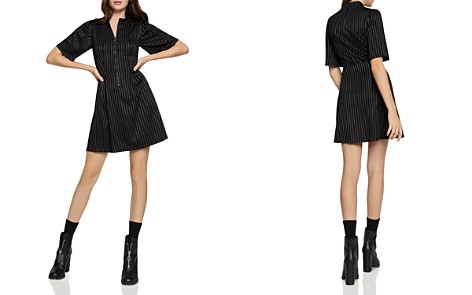 BCBGeneration Pinstriped Zip-Front Dress - Bloomingdale's_2