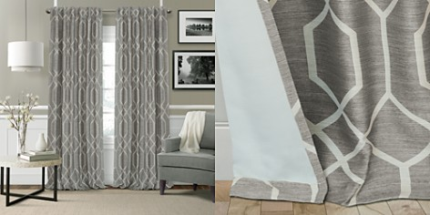"""Elrene Home Fashions Devin Textured Geometric Blackout Curtain Panel, 52"""" x 84"""" - Bloomingdale's_2"""