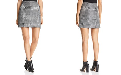 Emporio Armani Rhinestone Studded Glen Plaid Mini Skirt - Bloomingdale's_2