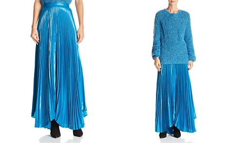 Alice + Olivia Katz Metallic Pleated Maxi Skirt - Bloomingdale's_2