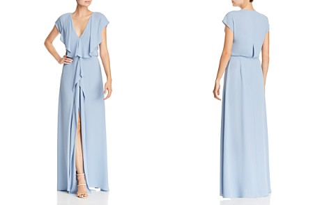 BCBGMAXAZRIA V-Neck Draped Gown - 100% Exclusive - Bloomingdale's_2
