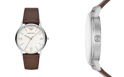 Emporio Armani Kappa Three-Hand Leather Watch, 41mm - Bloomingdale's_2