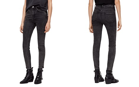 ALLSAINTS Nyla High-Rise Ankle Skinny Jeans in Washed Black - Bloomingdale's_2