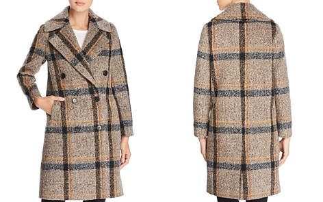 Kendall + Kylie Double-Breasted Button Front Plaid Coat - Bloomingdale's_2