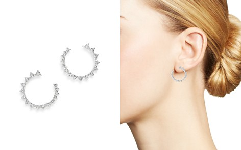 Bloomingdale's Diamond Front-to-Back Hoop Earrings in 14K White Gold, 1.0 ct. t.w. - 100% Exclusive_2