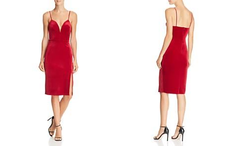 Sunset + Spring Notch Velvet Sheath Dress - 100% Exclusive - Bloomingdale's_2