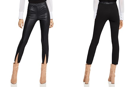 BCBGeneration Mixed-Media Split-Hem Leggings - Bloomingdale's_2