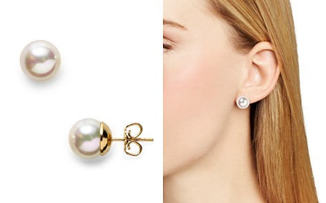 grey freshwater extra stud pearl earrings large white pearls studs pin or