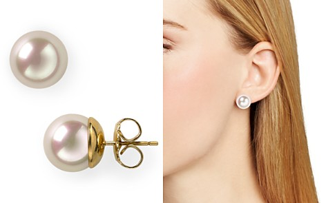 Majorica Simulated Pearl Stud Earrings, 12mm - Bloomingdale's_2