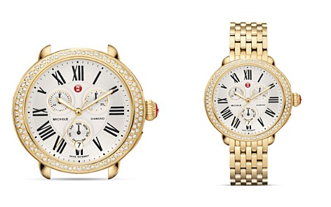 MICHELE Serein Diamond Gold Watch Head, 40 x 38mm - Bloomingdale's_2