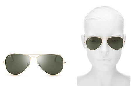 Ray-Ban Classic Brow Bar Aviator Sunglasses, 55mm - Bloomingdale's_2