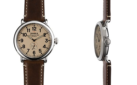 Shinola The Runwell Dark Coffee & Cream Dial Watch, 47mm - Bloomingdale's_2
