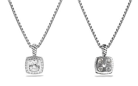 David Yurman Petite Albion Pendant with White Topaz and Diamonds on Chain - Bloomingdale's_2
