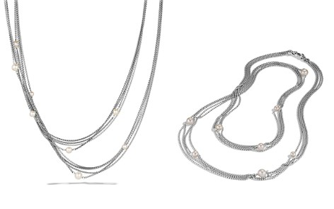 David Yurman Four-Row Chain Necklace with Pearls - Bloomingdale's_2