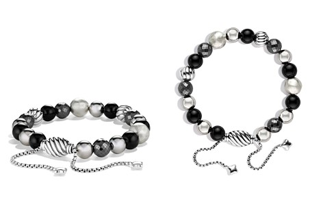 David Yurman DY Elements Bracelet with Black Onyx and Hematine - Bloomingdale's_2
