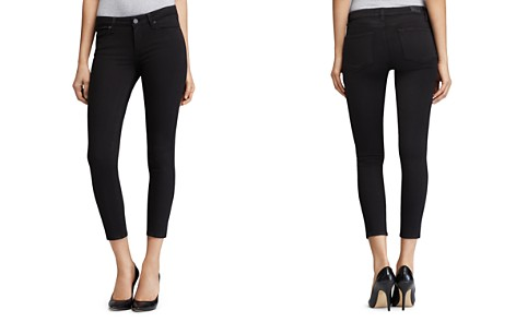 PAIGE Transcend Verdugo Crop Jeans in Black Overdye - Bloomingdale's_2
