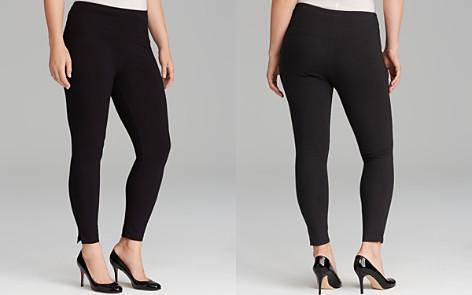 Lyssé Plus Cotton Leggings with Ankle Vents - Bloomingdale's_2